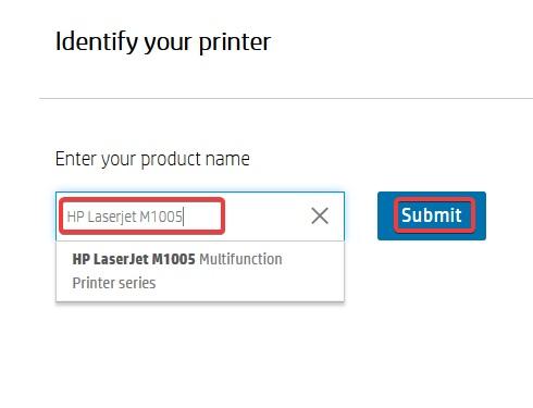 enter the model number