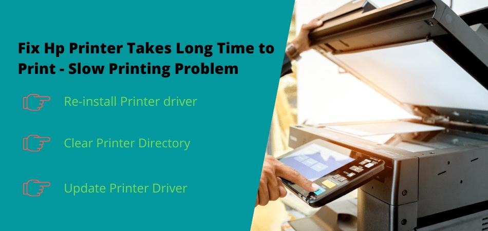 fix hp printer takes long time to print slow printing problem