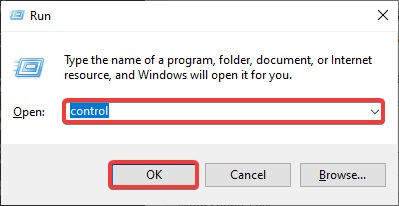 type control in run command to fix Printer Not Printing Word Documents