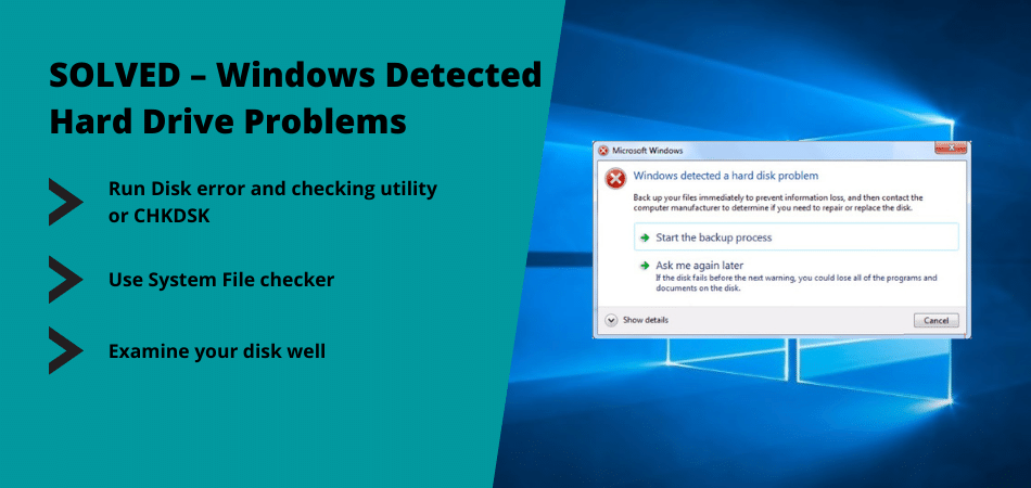 windows detected hard drive problems