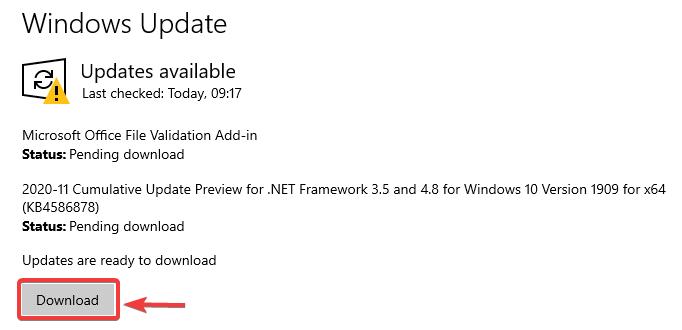 windows update download