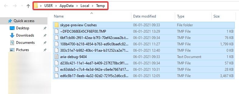 delete all files