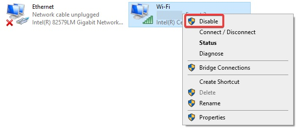 disable to fix Mobile Hotspot Not Working