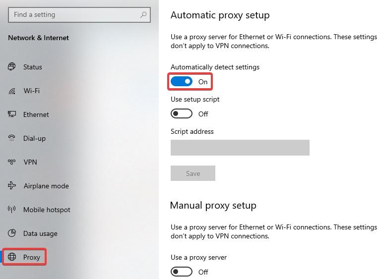 proxy to fix Kaspersky Login issue