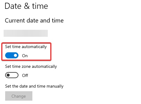 set time automatically to fix Kaspersky Login issue