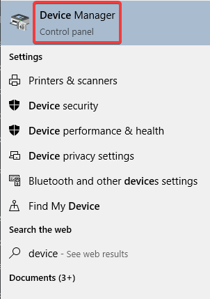 Device Manager to Fix Corrupted Mouse Cursor in Windows 10