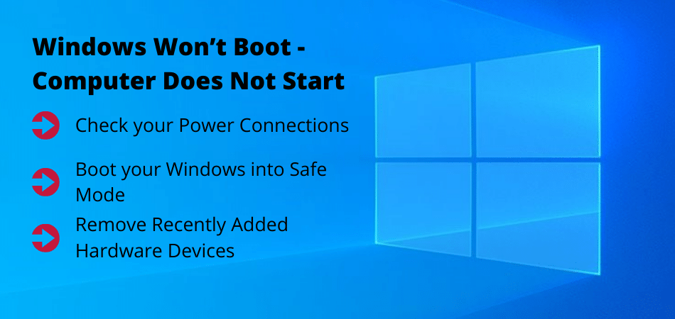 Windows Won't Boot