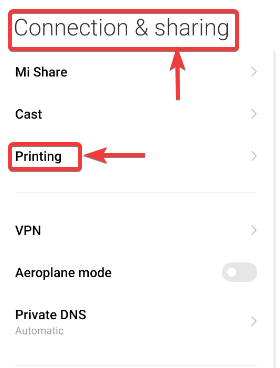 connection & printing