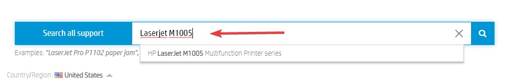 printer model number and then click Submit