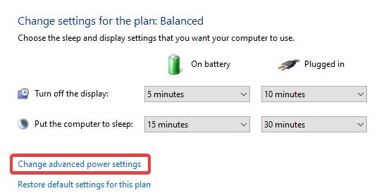 Change Advanced Power Settings to Fix Windows 10 Crashing