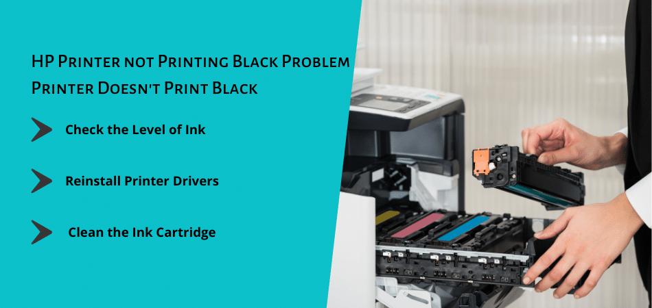 HP Printer not Printing Black Problem