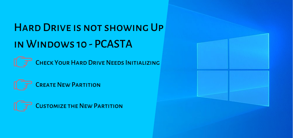 Hard Drive is not showing Up in Windows 10