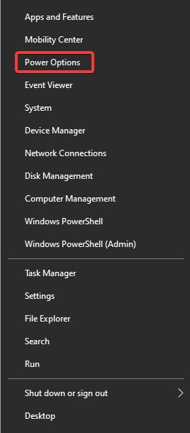 Power options to fix Computer Randomly Turns Off