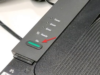 press the go button to reset brother printer