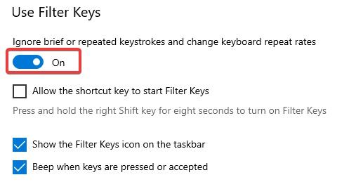 use Filter keys