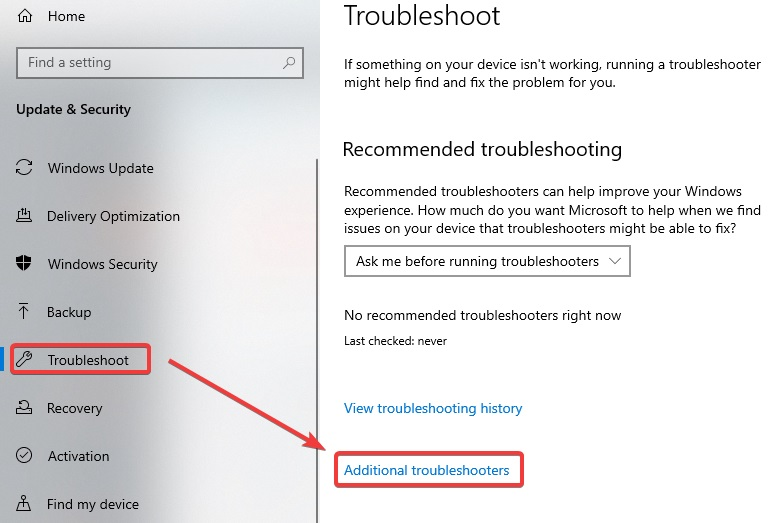 Additional Troubleshooters to Fix Printer Requires your Attention