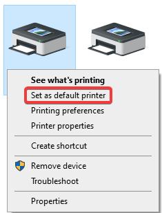 Brother printer default