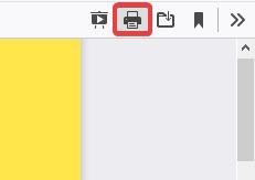 Click on Print to fix Printer not Printing PDF