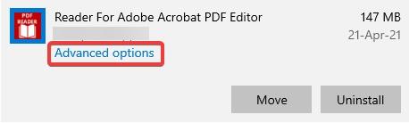 Click on advanced option