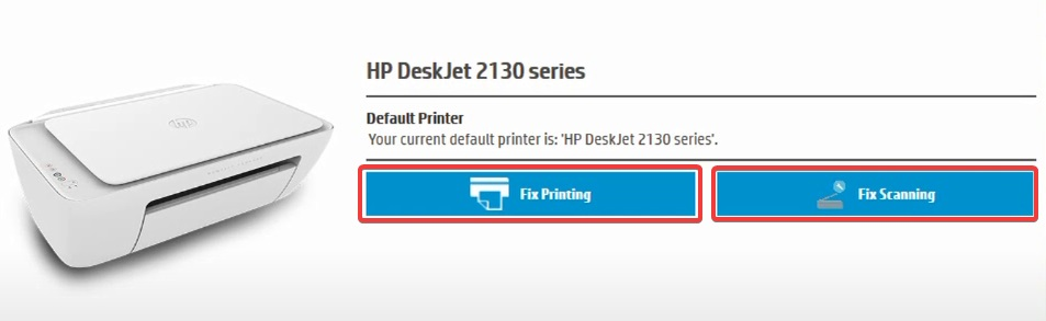Fix Printing or Fix Scanning in scan doctor