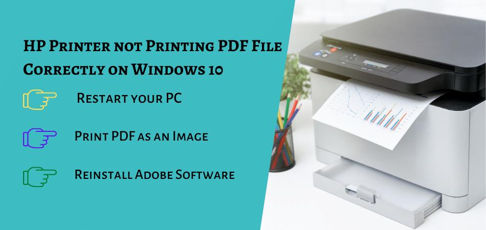 HP Printer not Printing PDF File Correctly on Windows 10