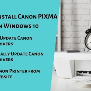 Install Canon PIXMA iP100 Driver on Windows 10