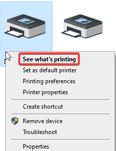 See whats printing
