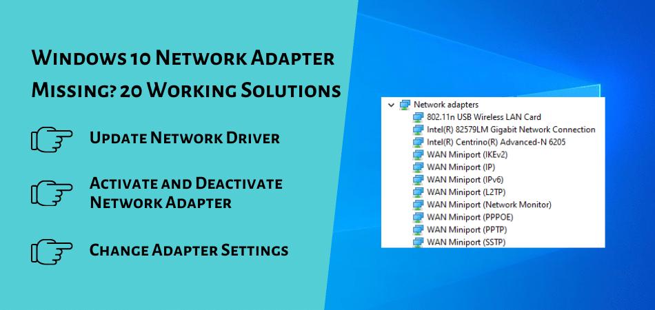 Windows 10 Network Adapter Missing