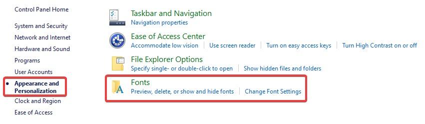 font settings to fix Printer not Printing PDF
