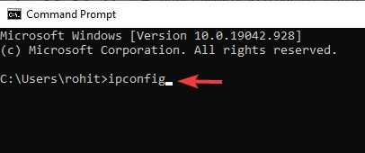 ipconfig to fix Network Adapter Missing