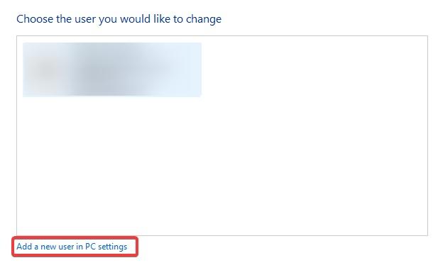 Add a new user in PC to fix Print Spooler Error