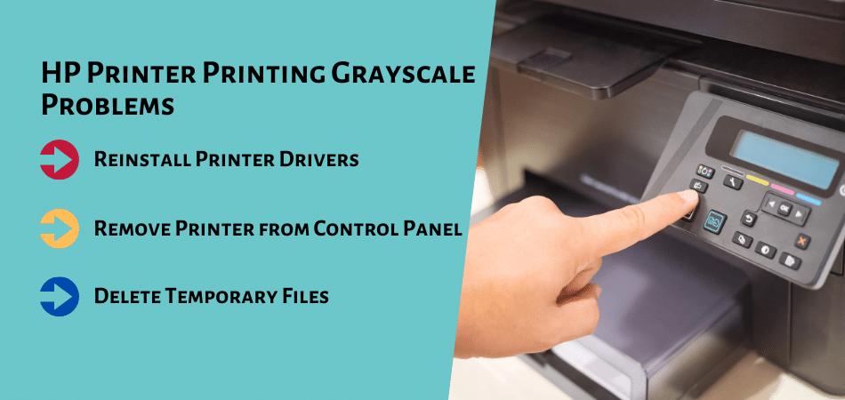 HP Printer Printing Grayscale Problems