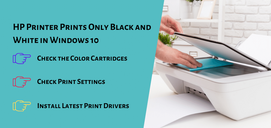 HP Printer Prints Only Black and White in Windows 10