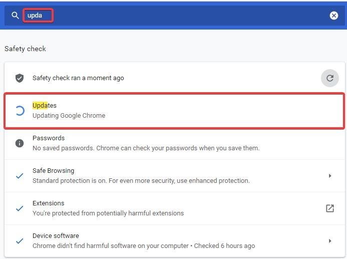 chrome update to Fix Chrome Won't Open
