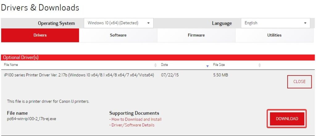 click on downloadunplug to fix Canon Printer B200 Error message