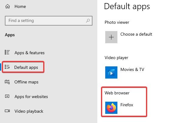 defaut browser