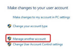 manage another accounts