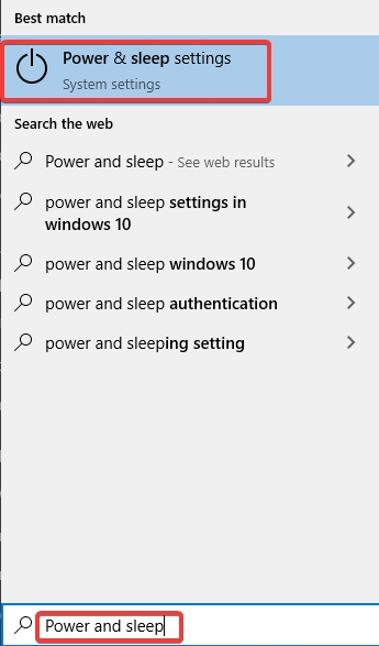 power and sleep settings to Fix Keyboard and Mouse Stop Working