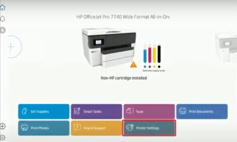 printer settings in hp smart to fix HP Printer not Recognizing Ink Cartridge