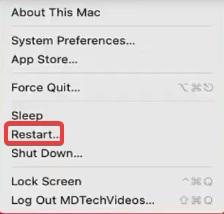 restart mac to Fix Chrome Won't Open
