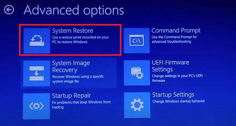 system restore to fix Windows 10 Login Problem