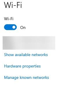 turn off wi fi