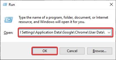 user data chrome