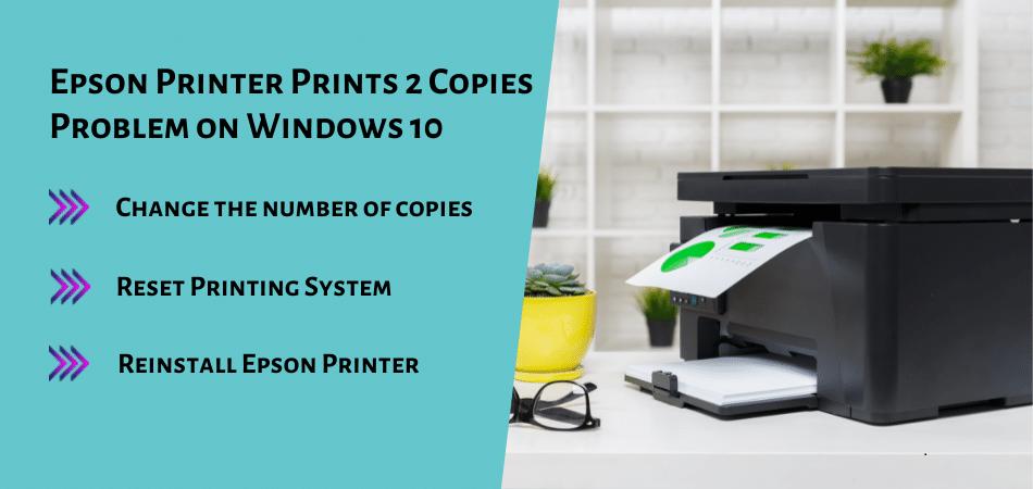 Epson Printer Prints 2 Copies Problem on Windows 10