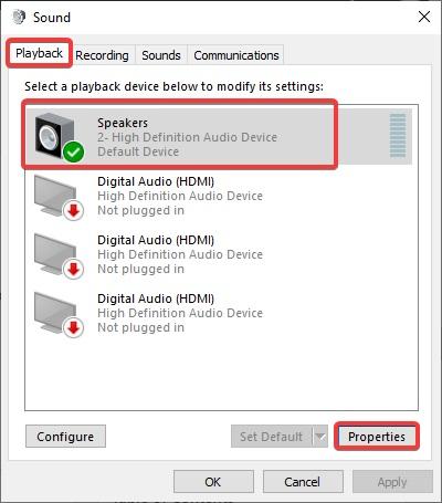 playback Properties to Fix Bluetooth Audio Stuttering
