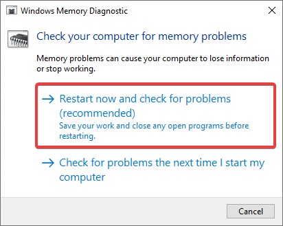 restart now and check for Problem