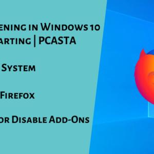 Firefox not opening in Windows 10