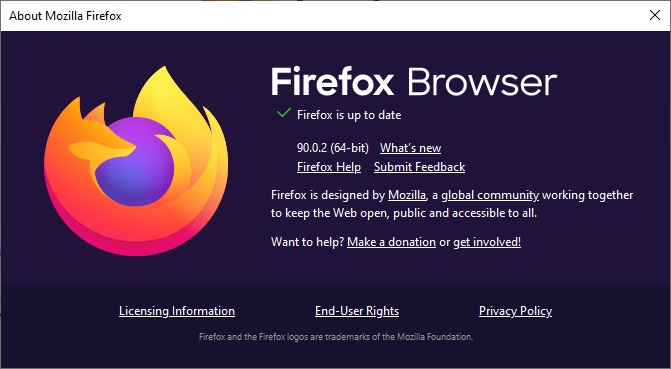 check for update firefox