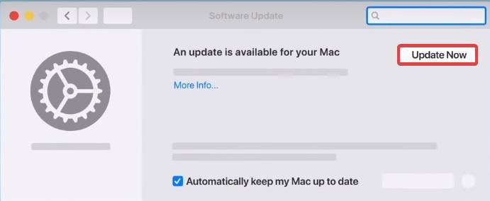 click Software update
