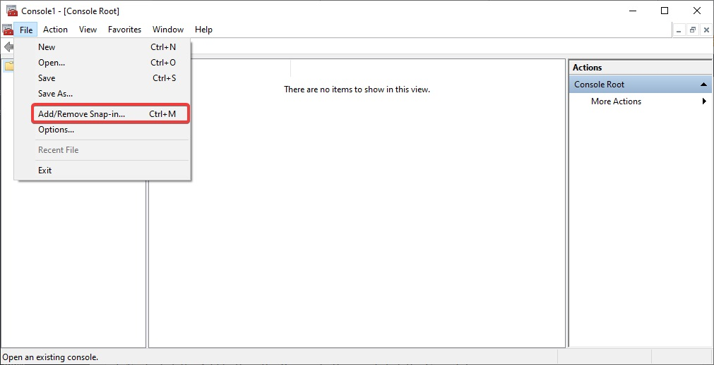 Add Remove Snap in to Disable Windows Problem Reporting